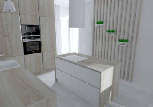 Kuchenny minimalizm otwarty na salon