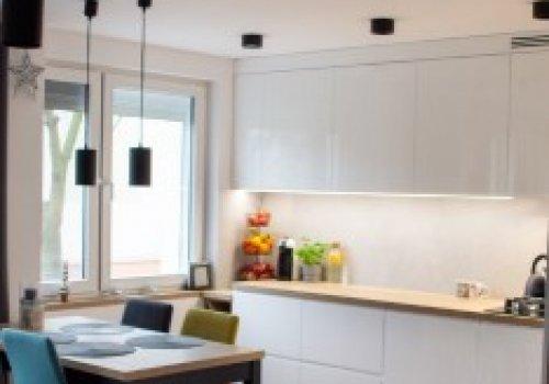 Kuchnia - widok z salonu
